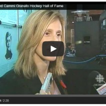 Angela James and Cammi Granato Hockey Hall of Fame